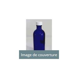 Bouteille bleue en verre 100ml