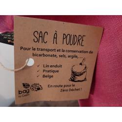 """Sac à poudre """"bag to green"""""""